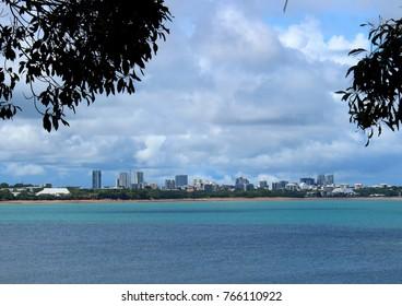 Landscape picture of Darwin skyline in Northern Territory, Australia taken from afar