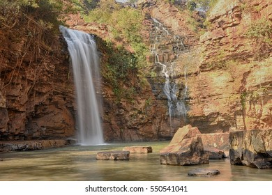 Landscape Picture of Tirathgarh Waterfall in Bastar district India.