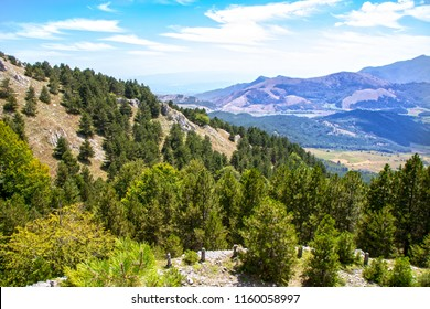 Landscape of Pollino national park, a wide natural reserve in Basilicata and  Calabria,  italian regions