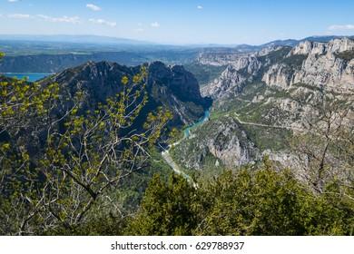 Landscape of Provence. La France. Gorges du Verdon in the spring.