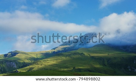 A landscape in the Pyrenees