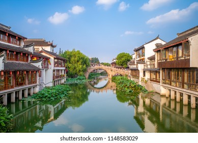 Landscape of Qibao Old Town in Shanghai, China
