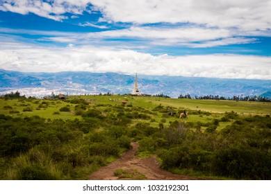 Landscape of Quinua's Pampa in Ayacucho, a department of Peru.
