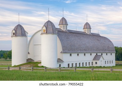 Landscape of restored barn on the historic D. H. Day farmstead, Sleeping Bear Dunes National Lakeshore, Michigan, USA