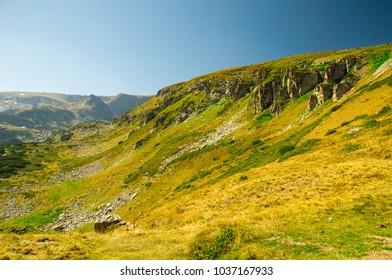 Landscape of Rila national park, Bulgaria