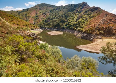 Landscape with river and forest in Asturias, Riodeporcos. Spain tourism