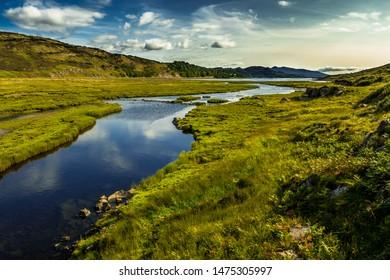 Landscape With River Kishorn Near Applecross Pass In Scotland