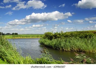 Landscape with river, Netherland