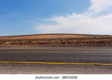Landscape with a road in Morocco