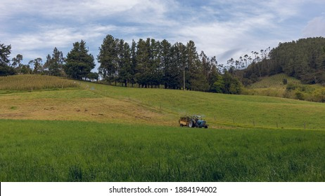landscape of rural Barragan Valle del Cauca Colombia in the Colombian Andes