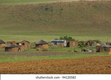 Landscape of rural zululand, KwaZulu was a bantustan in South Africa, intended by the apartheid government as a semi-independent homeland for the Zulu people.