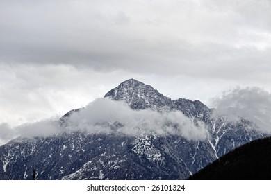 landscape with the Saint Mountain Athos - Greece