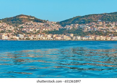 Landscape of Samos island. It is one of the most popular tourist destinations in the Greek islands - it is located on the Turkish coast.