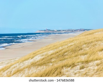 landscape with sand and grass, North Sea coast