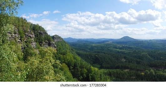 Landscape with sandstone rocks