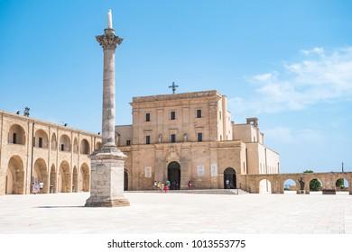 Landscape of Santa Maria di Leuca, the southernmost point of Italy, Puglia, Salento