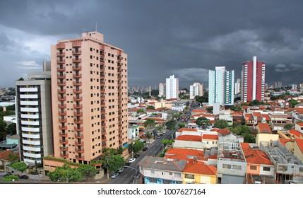 landscape of Sao Caetano do sul city in Brazil
