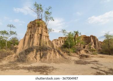 Landscape sao din na noi hom chom and kok sua, Nan, Thailand