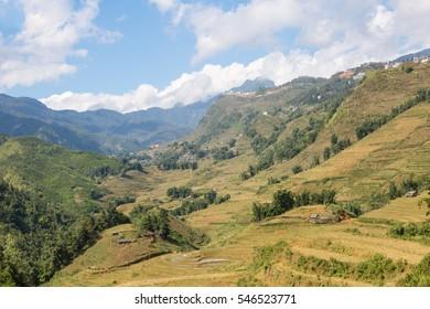 Landscape of Sapa valley in Vietnam