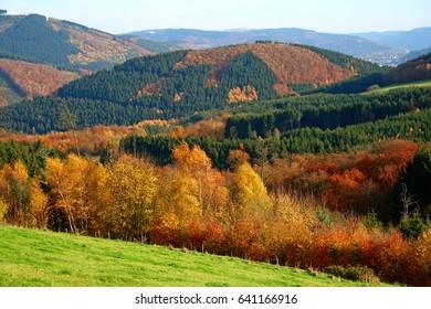 landscape sauerland, germany