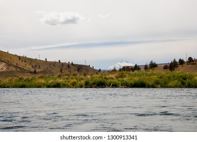 Landscape scenic of the Lower Deschutes River in the Wild and Scenic section near Warm Springs Oregon.
