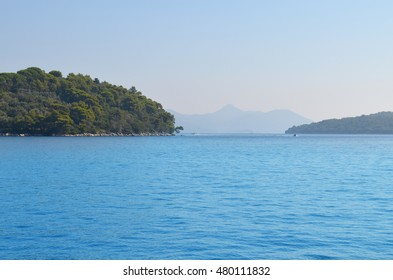 Landscape of the sea and blue sky and island