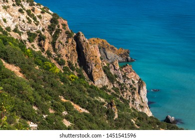 Landscape of the sea coast in a Crimea
