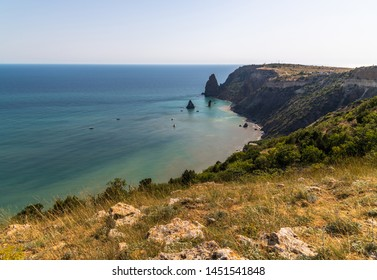 Landscape of the sea coast in a Crimea. Fiolent headland