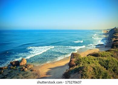 landscape sea. Israel. Ashkelon.