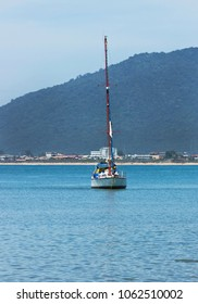 Landscape of the sea with sailboat