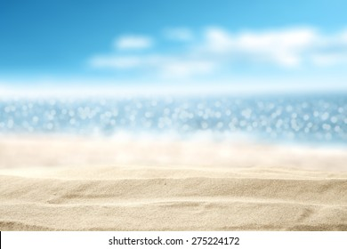 landscape of sea and sand on beach