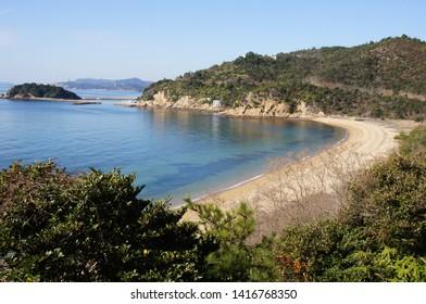 The landscape of seaside (Naoshima)