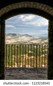 Landscape seen from the castle in the historic center of Calitri