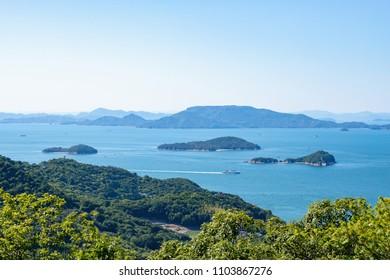 Landscape of the Seto Inland Sea,Aji town,Takamatsu city,Shikoku,Japan