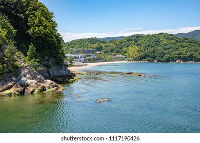 Landscape of the Seto Inland Sea(coastline in the local bay),Aji town,Takamatsu,Shikoku,Japan
