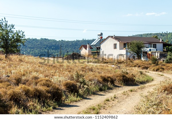 a landscape shoot with small farm house . photo has taken from izmir/turkey.