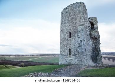 landscape shot of hadleigh castle in essex