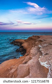 Landscape shot of Mil Palmeras seashore in the evening, Spain