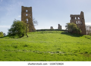 Landscape shot Sheriff Hutton Castle, in the village of Sheriff Hutton, North Yorkshire York