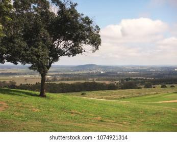 Landscape showing lush countryside and vegetation near Kingaroy Queensland Australia
