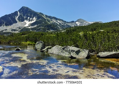 Landscape with Sivrya peak and Banski lakes, Pirin Mountain, Bulgaria