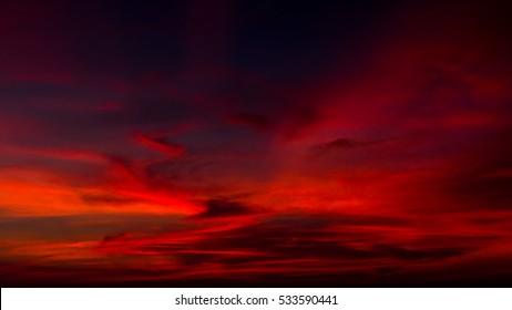 landscape sky twilight thailand.Image contain certain grain or noise and soft focus.