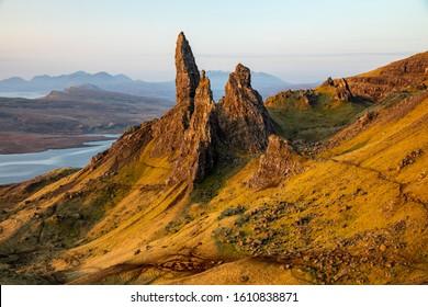 Landscape in Skye, Scotland during spring season.