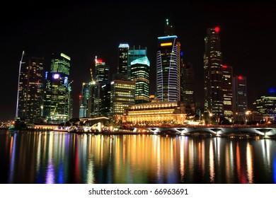 landscape of skyscraper in Singapore business district