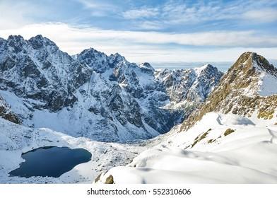 Landscape in Slovak High Tatras. View of Litvorova valley (Litvorova dolina) - Shutterstock ID 552310606