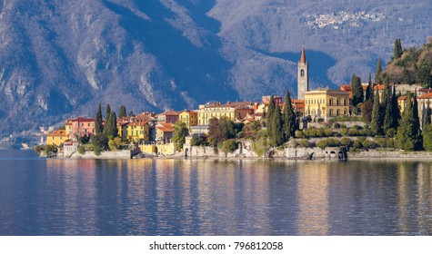 Landscape of small town of Varenna, on Como Lake in Northern Italy