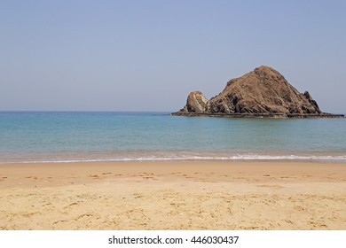 landscape with Snoopy Island in Fujairah, UAE