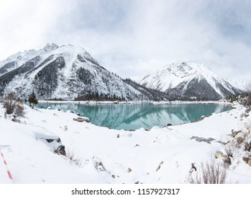 landscape with snow mountian and lake in tibet