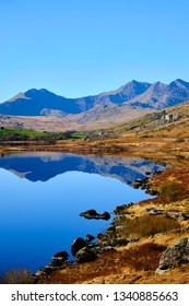 Landscape in the Snowdonia National Park in Wales, Great Britain
