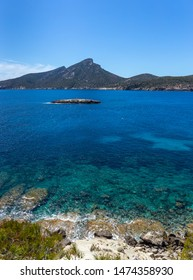 The landscape of the South coast of Mallorca